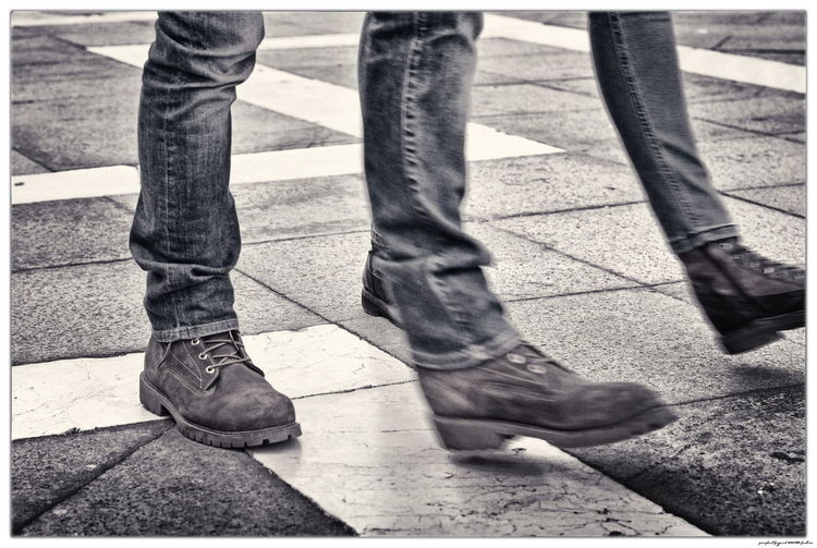Body Part City Day Human Body Part Human Leg Jeans Real People Shoe Street