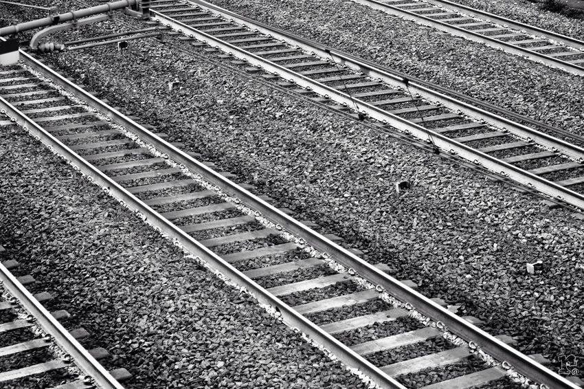 The Journey Is The Destination On The Way Binary Binario Black And White Bianco E Nero Prospective Prospettiva Ferrovia Florence Italy Firenze Fugacity