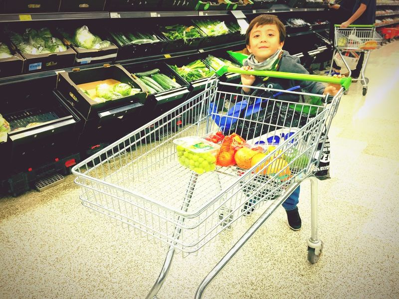 Shopping Cart Shopping Supermarket Store Retail  Food Food And Drink Real People One Person Childhood Child