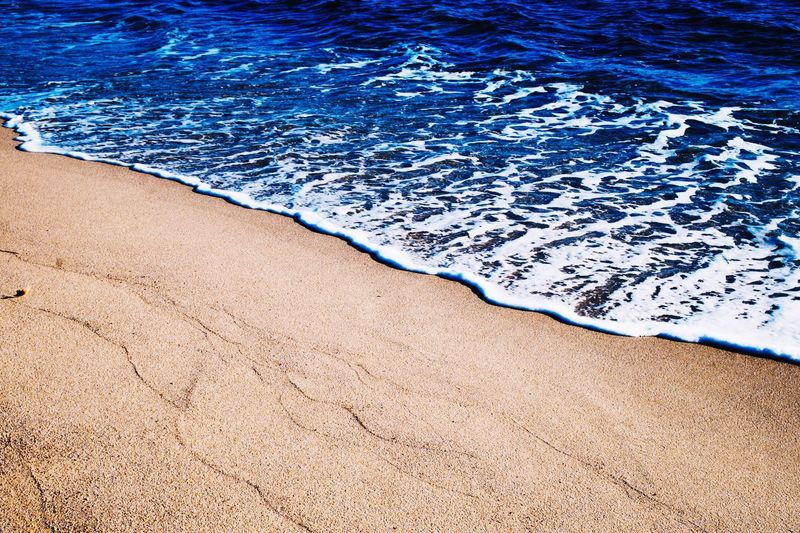 Blue Water Beach Sunlight High Angle View Outdoors Sand Nature Day Sea No People Beauty In Nature Backgrounds Swimming Pool Vacations Close-up
