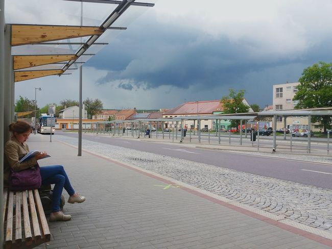 Always learning... Student Learning Busstop City Storm Usingbrain Cloud - Sky Rain Working