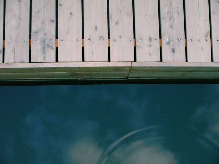 Full frame shot of swimming pool against sky