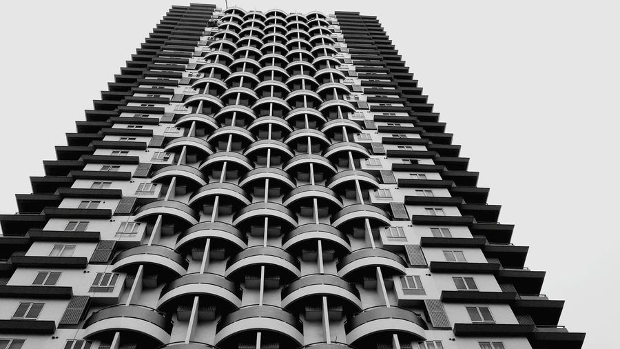 Black and White, Building Modern History Sky Architecture Building Exterior Built Structure Architectural Feature Tall - High Architectural Design