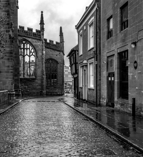 Coventry Cathedral from Bayley Lane, Coventry Cathedral Coventry Cathedral - UK Coventry Blackandwhite Black And White Monochrome Street FUJIFILM X-T2 Architecture