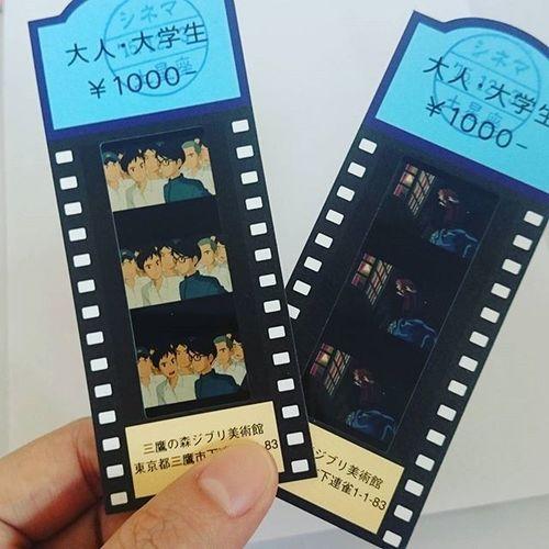 相同的喜好成就我们共同的回忆💭👫🎥 Studioghibli Filmasticket 宫崎骏 Travelgram TBT  Japan Instatravel
