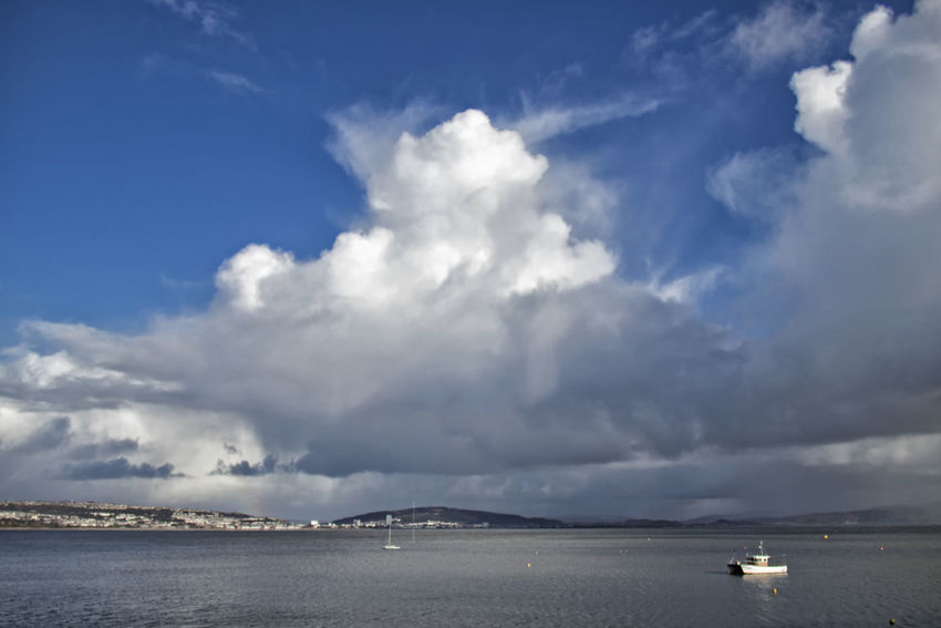 Cloud - Sky Sky Water Beauty In Nature Scenics - Nature Sea Nature Tranquility Tranquil Scene Transportation Day Nautical Vessel No People Non-urban Scene Outdoors Mode Of Transportation Waterfront Idyllic Horizon Swansea Bay