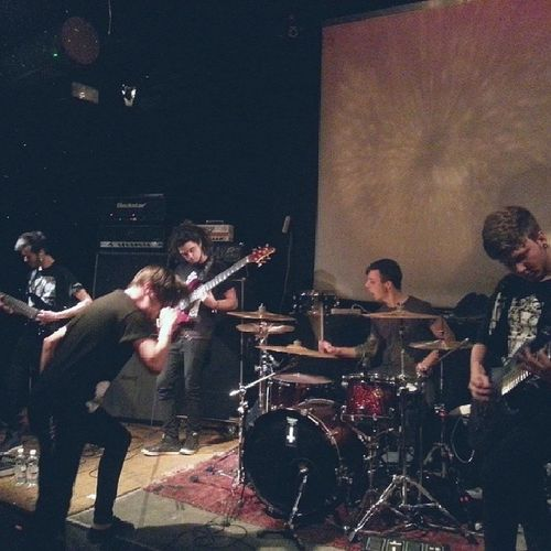 """Noise Trail Immersion performing """"We Are Sleeping"""" live @ Café Liber, Turin Noisetrailimmersion Mathcore Metalcore Live band support turin live caféliber arci"""