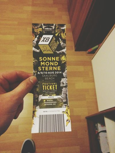 got my Sonnemondsternefestival ticket today! SMSx8 Sonnemondsterne