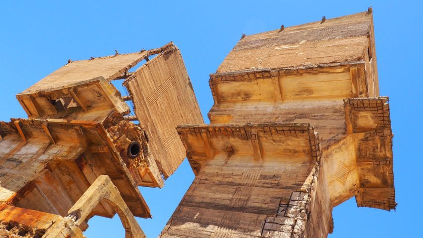 Ancient Civilization Architecture Blue Building Exterior Built Structure Clear Sky Day History Low Angle View No People Old Ruin Outdoors Sky Travel Destinations