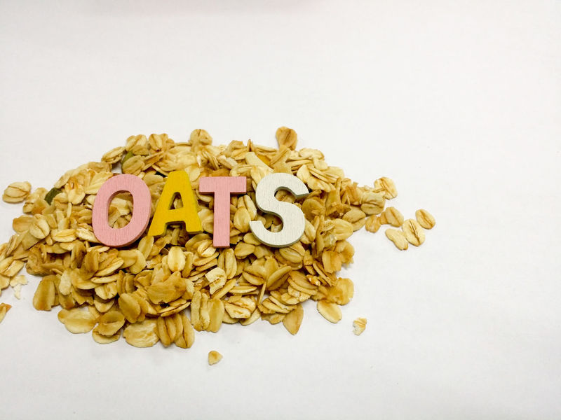 Oats isolated on white background Text Single Word Communication White Background Alphabet No People Gold Colored Handwriting  Oats Food Nutrition Alphabets