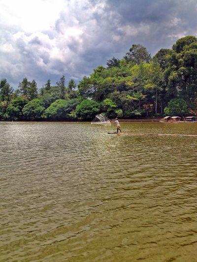 Fisherman Nature Lake Scenery