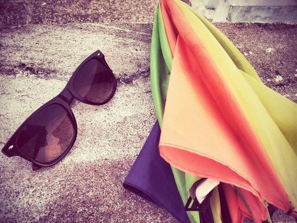 An Small Umbrella with Spac Colours Uttarayan