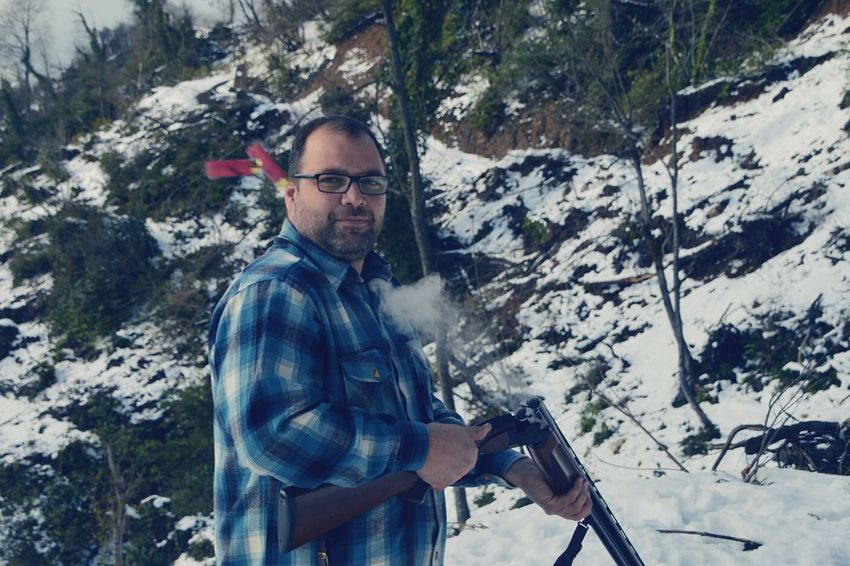Showcase: December Snow Hunting Relaxing Portrait Hands At Work Hunter Riffle Shotgun Hive Winter is here...