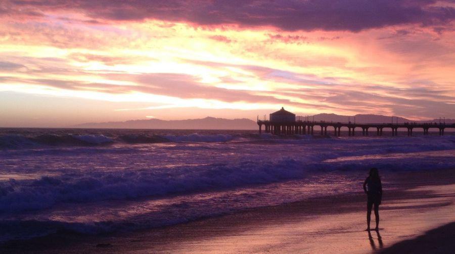 California Dreaming Cloud - Sky Horizon Over Water Manhattan Beach Nature Sea Sunset Over Water Water