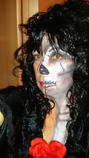 Colors Of Carnival Taking Photos Hi Hello World Darkside Half Face Black And White Woman Portrait Mystery Thats Me  Handmade Skelett 💀 Fasching
