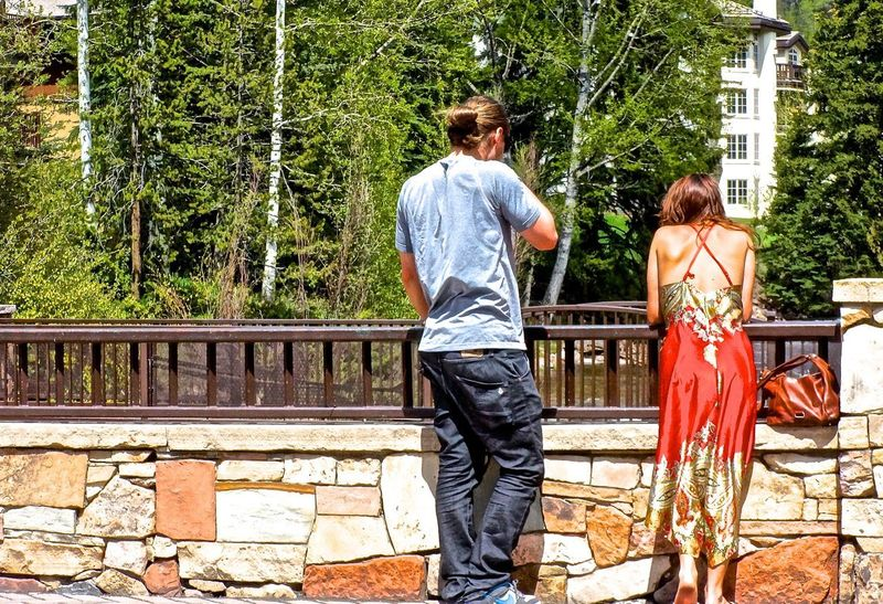 Adult Adults Only Day Full Length Nature Outdoors People Rear View The Street Photographer - 2017 EyeEm Awards Togetherness Tree Two People Vail  Vail Colorado Vail,co Vailsummer Young Adult