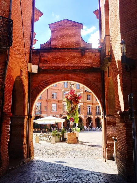 France City Red Brick Building