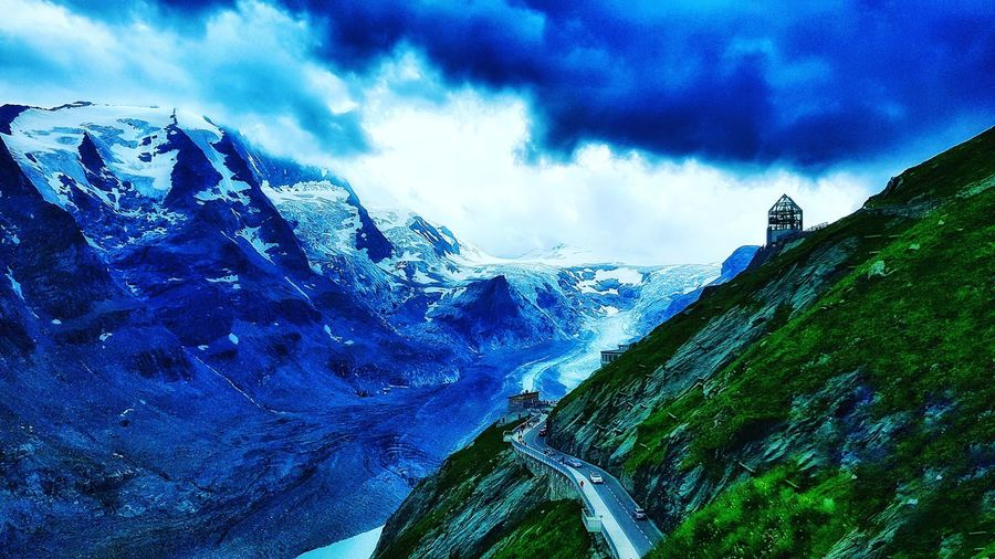 grossklockner high alpine road in Austria Landscape Glacier Hinterglemm Austria Photooftheday Photography Naturephotography Mountains Mountain Sky Cloud - Sky Cloud Iceberg Global Warming First Eyeem Photo