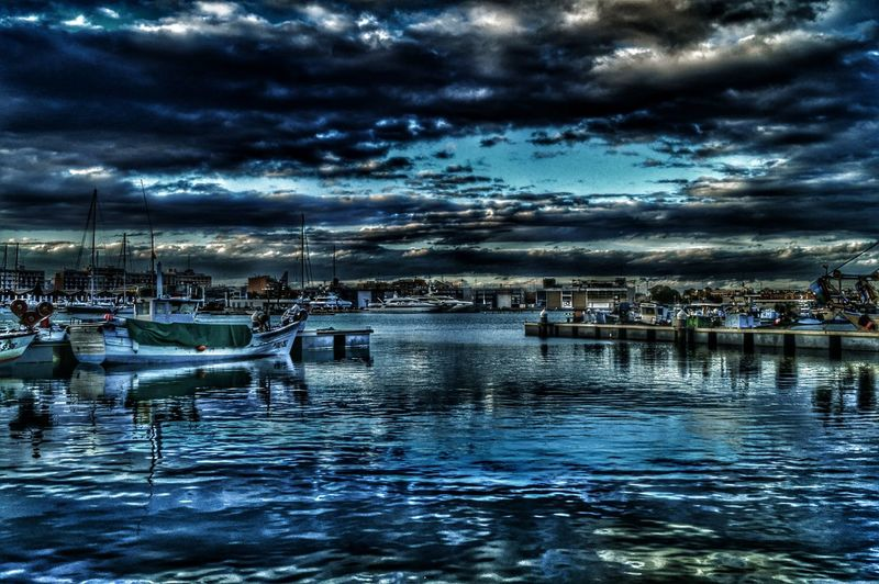 Water Reflection Sky Cloud - Sky Nature Waterfront River No People Outdoors Transportation Built Structure Tree Tranquility Nautical Vessel Beauty In Nature Architecture Day Yacht Vancia Valencia Harbor Harbour Spain ✈️🇪🇸 Spain_beautiful_landscapes