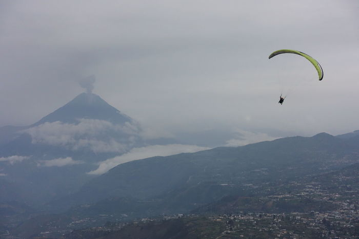 Paragliding in Ecuador near Tungurawa volcano. Clouds Clouds And Sky Cloudscape Flight Fly Flying Freedom Mountain Paraglide Paragliding Tungurahua Tungurahua-Ecuador Tungurahua Volcano Volcano Volcano Eruption Raw Mountains And Sky