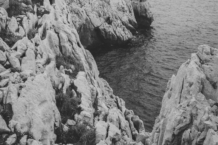 Rock - Object High Angle View Nature Sea Rock Formation Beauty In Nature EyeEm Best Shots Eye4photography  Monochrome From My Point Of View
