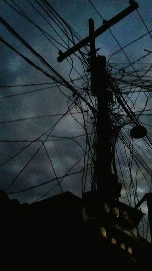 Electric Lines Electric Wires Photography Samsunggalaxygrandprime Samsungphotography Dark Darksky