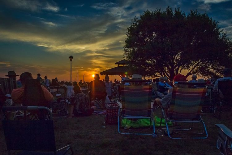 Sunset Beach LBI New Jersey Long Beach Island The Week On Eyem EyeEm Best Shots Showcase July Picoftheday Concert Audience Lawn Lawn Chair