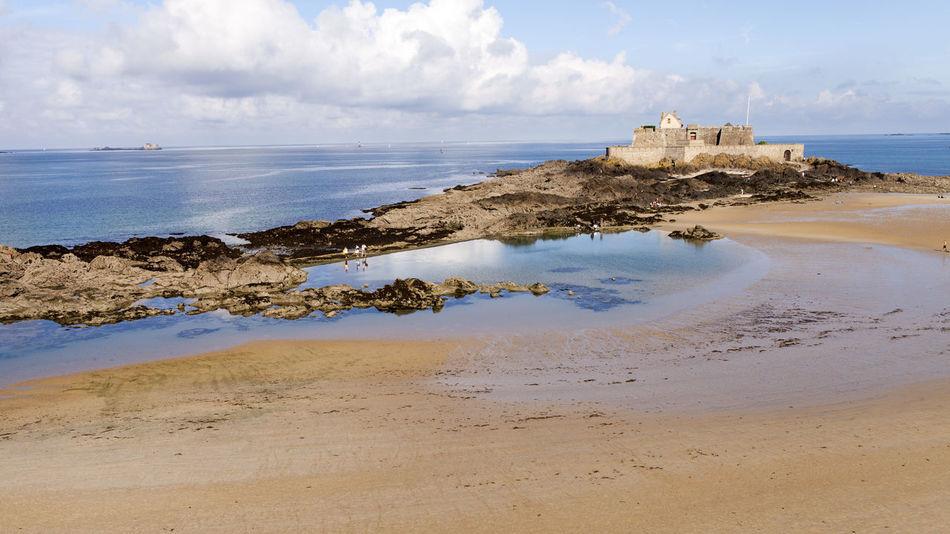 Beach Bretagne Mer Paysage Plage Sable Saint-Malo Saint-Malo Beach France Sand Sea
