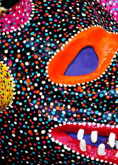 Multi Colored Backgrounds Close-up Vejigantes Vejigante Mask Carnival Mask Puerto Rico Caribbean Life Artisan