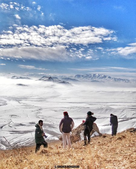 Sky Winter Cloud - Sky Real People Leisure Activity Nature Outdoors SnowPortrait Me Young Adult The Week On EyeEem Landscape Cold Temperature Men Beauty In Nature Day Scenics People Adults Only Adult Sunlight Urmia Oromieh Iran