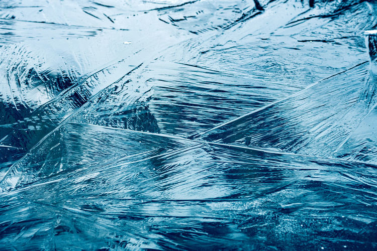 ice blocks on
