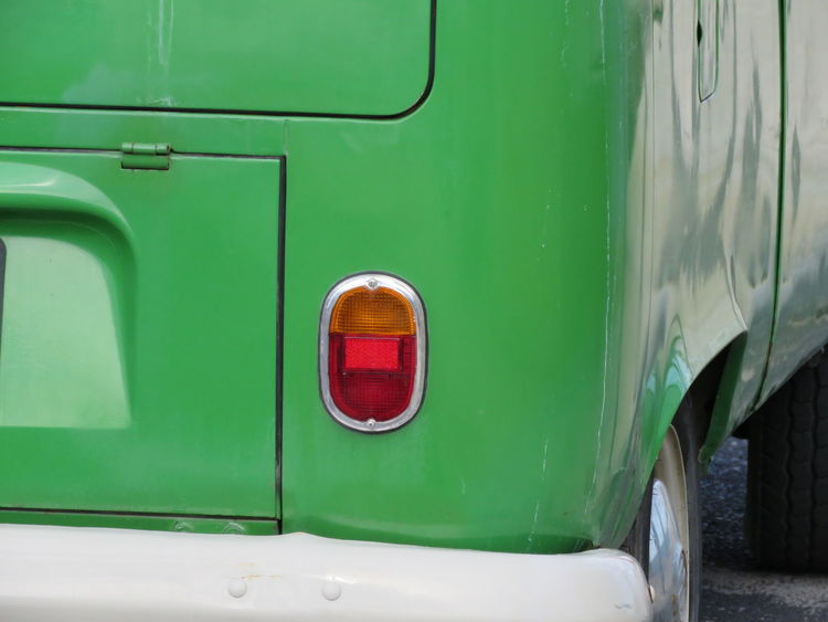 The Drive Green Color Red Door No People Outdoors Day Tail Light Light Rear Part Of Rear Light Detail Selective Focus Focused Eye For Details EyeEm Best Shots Check This Out Old Van Rear Bumper Making Classic Car Classic Automobile Vintage Cars Vintage Car Rear View