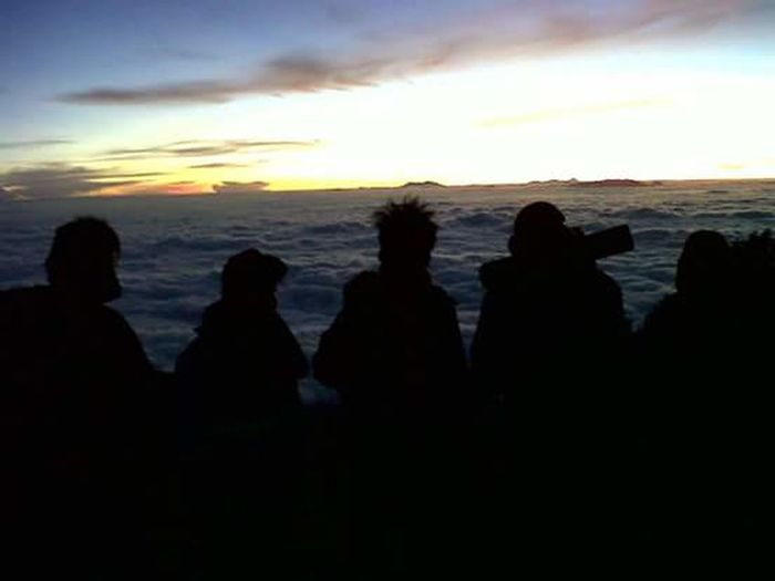Camping Adventure Sunrise Morning Sky Lawu Mountain Solo Central Of Java INDONESIA with Best Friends Weekend Fun