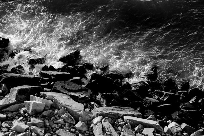 Beauty In Nature Black And White Blackandwhite Force Motion Nature No People Sea Water Wave Wave Pattern Waves And Rocks Waves Crashing Waves Crashing On Rocks