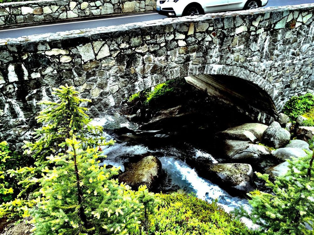 Creek in Mount Rainier National Park Bridge - Man Made Structure Water Outdoors Rock - Object Nature No People Mount Rainier National Park Washington State Beauty In Nature IPhoneography