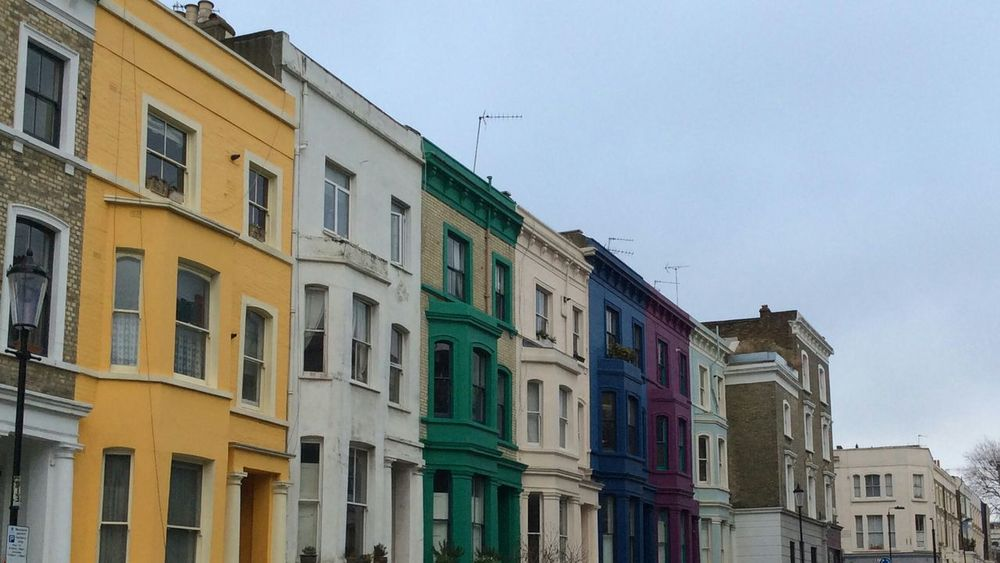 LONDON❤ City Europe London Street Londonlife Colours Coloured Walls Window Architecture Coloured Houses Facades House Wall Notting Hill Traditional Culture Notting Hill Market Nopeople London Streets