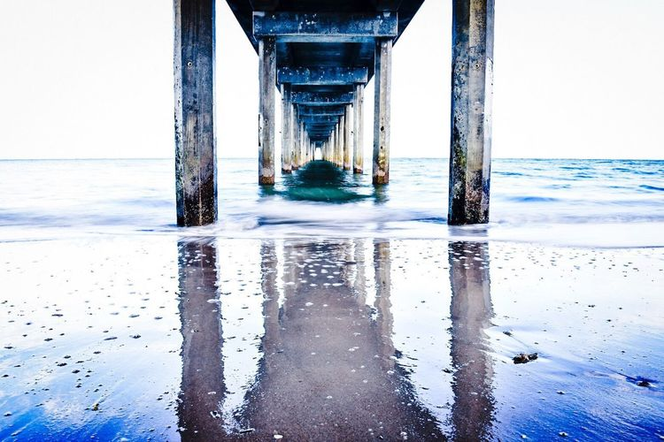 Water Sea Beach Horizon Over Water No People Nature Architectural Column Day Outdoors Wave Beauty In Nature Cold Temperature Sky Underneath Scenics Architecture