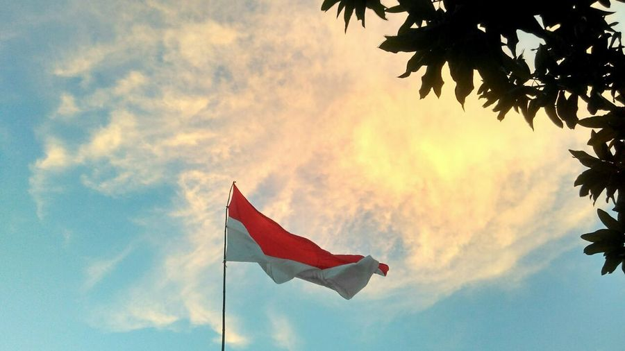 flag patriotism no people red outdoors cloud - sky day sky nature First Eyeem Photo