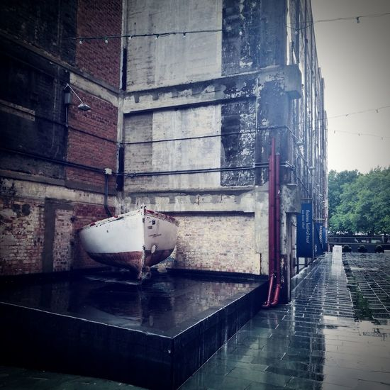 Rainy Days No People Boat Urban Art Urban Sculpture Water Wet Indoors  Architecture Day Close-up Building Exterior Outdoors