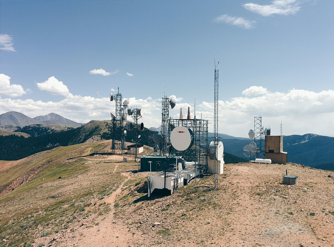 Communications towers on hill