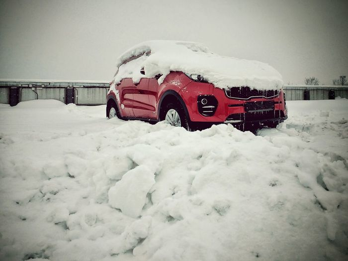 LakiMirazh Lmd Russia Авто Россия лакиМираж лмд Auto Car Kia Sportage снег зима красный Red Cold Temperature Snow Winter Outdoors Nature Technology Snowing
