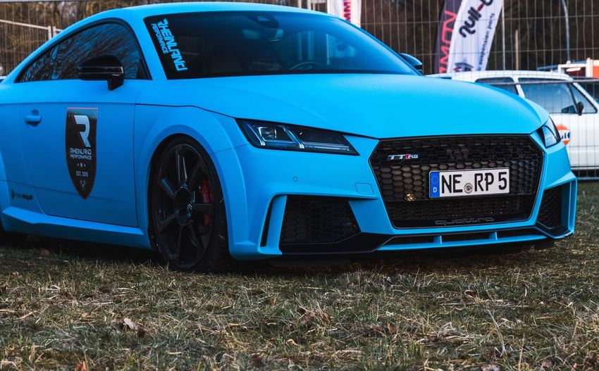 Ttrs Audi Tuning Auto Mode Of Transportation Car Transportation Motor Vehicle Land Vehicle Blue No People Outdoors