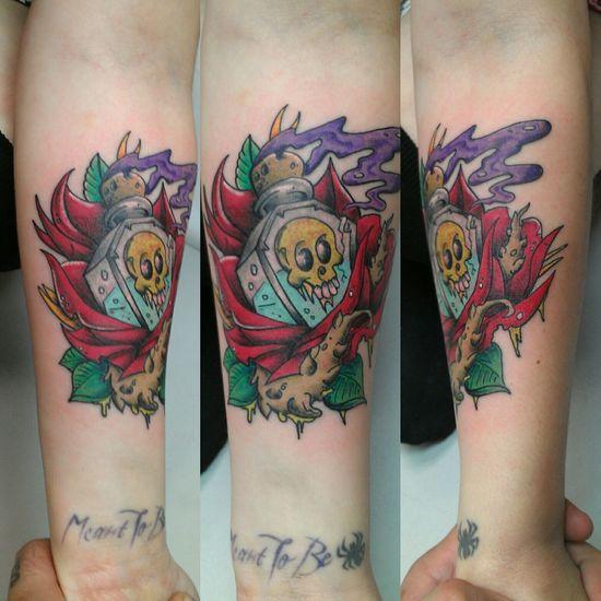 Tattoosbyniko Tattoo New Skool Tattoo New School New Skool Color Bomb