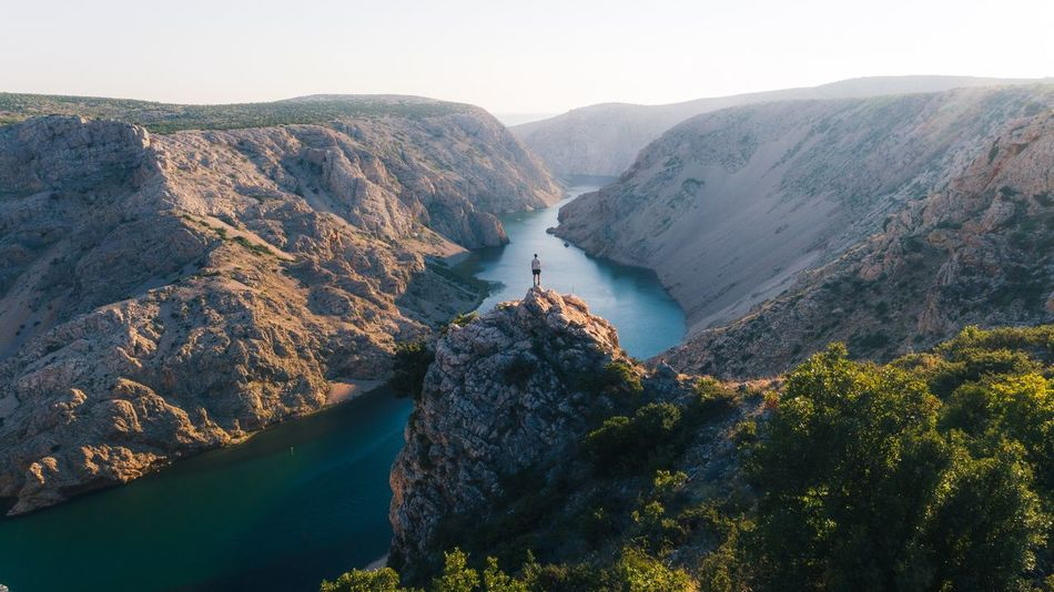 Canyon views in Croatia Croatia Mountain Beauty In Nature Scenics - Nature Tranquil Scene Tranquility Nature Non-urban Scene Day Mountain Range Water Sky High Angle View Environment Idyllic No People Travel Landscape Plant Travel Destinations Outdoors