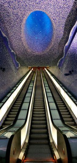 Urban Urban Geometry Underground Metro City Starry Sky