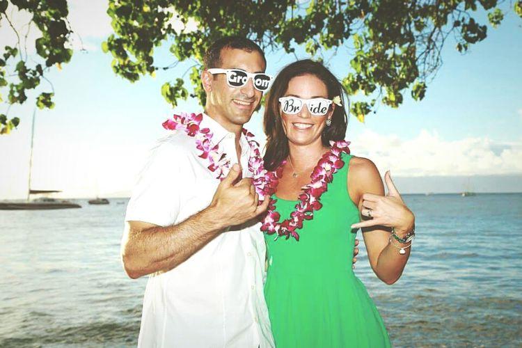 Hawaii Bride Groom Honeymoon Love Hanging Out Luau Beach