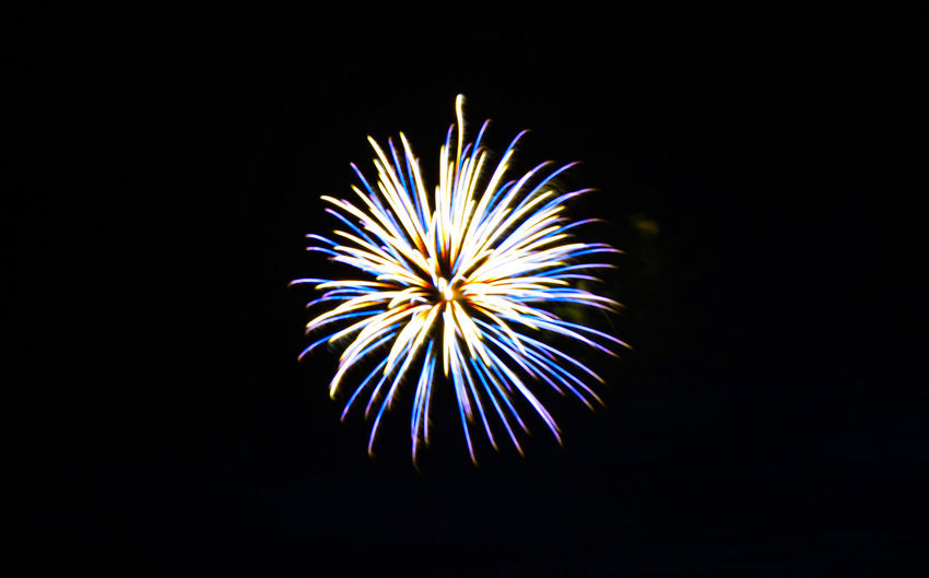 Fourth of July Fireworks Arts Culture And Entertainment Black Background Celebration Close-up Color Firework Firework - Man Made Object Firework Display Fireworks Only Illuminated Low Angle View Multi Colored Night No People Outdoors