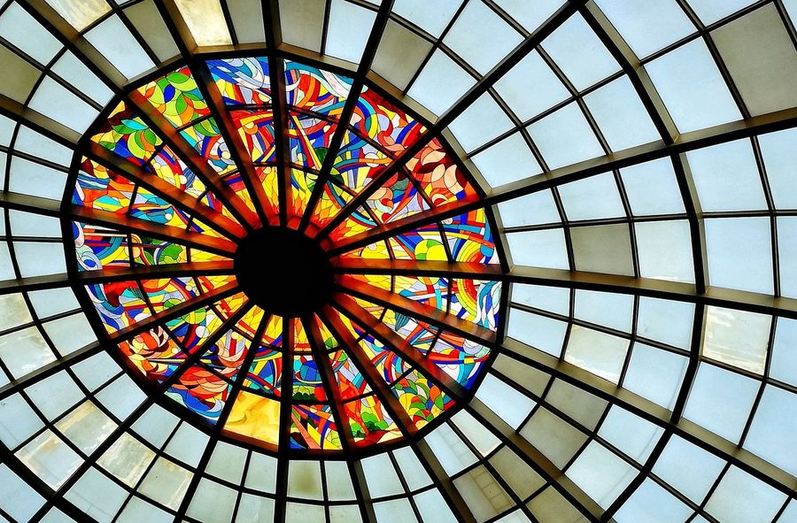Multi Colored Low Angle View No People Pattern Day Indoors  Sky Choice Market Outdoors Full Frame City City Lights