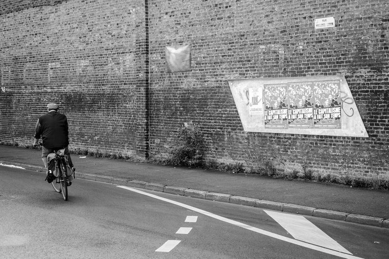 Lille, France. The Street Photographer - 2017 EyeEm Awards Bicycle Transportation Cycling People Monochrome Black And White Streetphotography Social Photography Lille