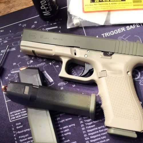 Added a Clearcoat of Krylonflatclearcoat ... should help wear more evenly without chipping. ..KrylonUltraflatCamouflage Sand ODgreen doityourself Glock17gen4 guns gunporn 9mm everydaycarry opencarry molonlabe Oorah lovemyrights 2ndamendment Merica blackhawkserpa BlackhawkSerpaTacticalPlatform QuickDrawMcGraw TiedDownGuns pewpewpew combatready